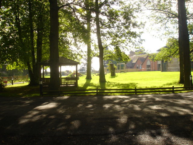 View from top of the drive over to the leisure barn