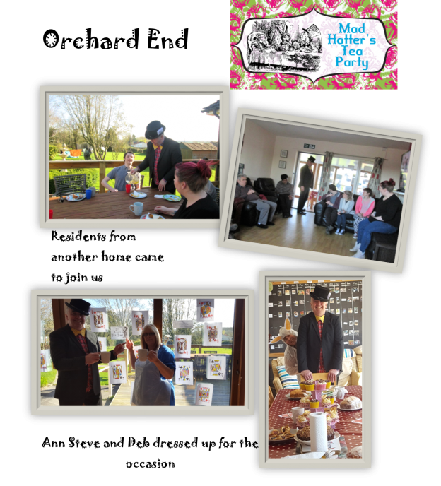 Mad Hatters tea party at Orchard End