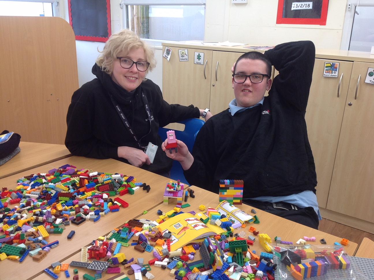 Lego Building Enrichment Activity
