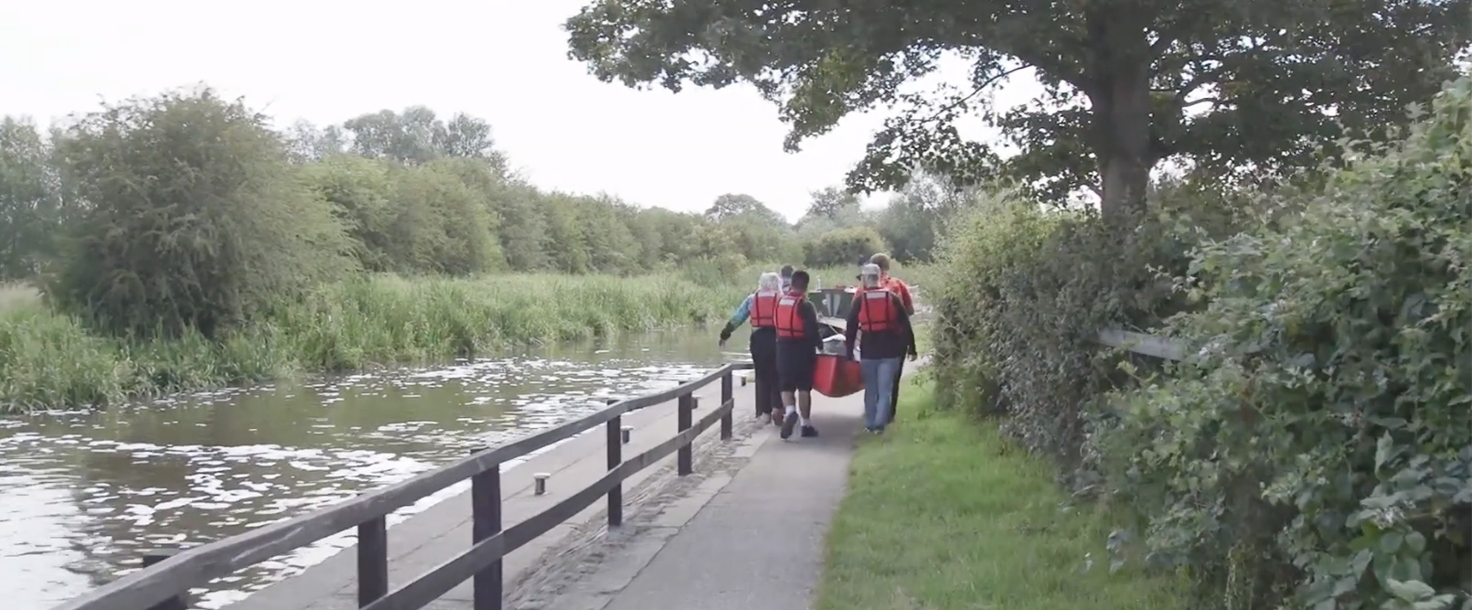 Canoeing as part of Outdoor Education