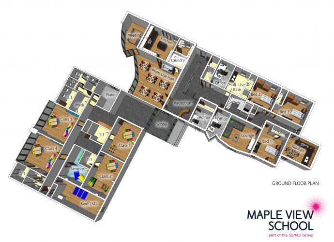 Maple View School 3D Floor Plan